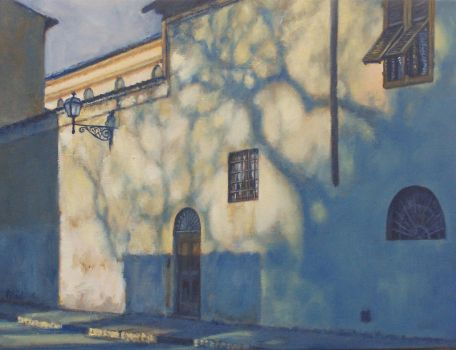 Afternoon Shadows-Oil PAINTING by AstridBruning