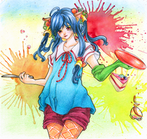 Coloring contest - traditional by Ren-Naoki