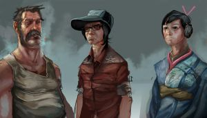Sketchin Hipsters by nathantwist