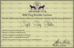 Coyote Song Stables' Rifle Dog License by galianogangster