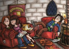 In the Common Room by StrangeMahh