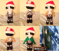 Attack on titan Levi heichou plush by Harukuma
