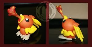 Fimo Torchic by ManiacalMew