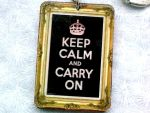 Keep Calm Keychain by Eibhlin-san