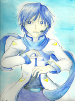 Kaito Watercolor by Aki-rain