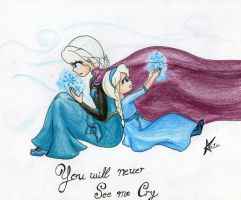 Frozen ,you'll never see me cry by kirby-kta-tsuki