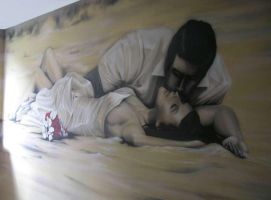 wedding graffiti on the wall by aniaart