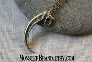 Raptor Claw Necklace by MonsterBrandCrafts