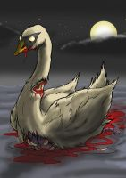Undead Swan by Cannibal-Cartoonist