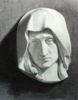 Mary, plaster cast drawing by amdowns