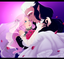 A Bride and Groom by GamblingFoxinaHat