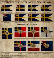 Flags of the Empire of Sweden-Scandinavia by Fraztov