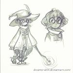 Little Witch Doodle by DreamerWhit