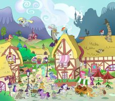Ponyville by Rovaa