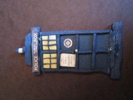 Big Clay Tardis by sonickingscrewdriver