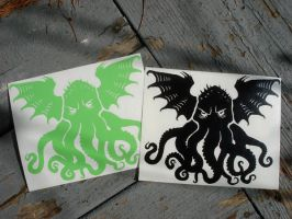 Cthulhu decals by missmonster