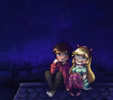 SVTFOE: Looking at the stars! by Stan-is-on-fire