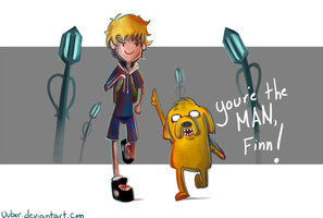 Finn and Jake by uuber