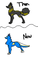 Flashy: Then and Now by The-Lovestruck-Fox