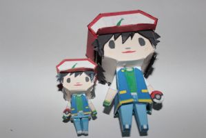 Ash Ketchum Papercraft large and small 4 months ago in Models