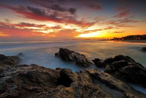 Dawn at the Rocks by MarkLucey