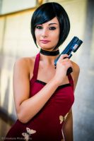Ada Wong Cosplay Resident Evil 4!! by ZombieQueenAlly