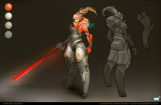 //OrangeJouster by MarcBrunet