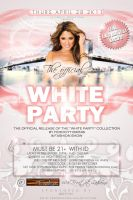 club flyers: ALL WHITE AFFAIR by CBrownDESIGNS
