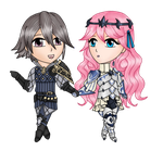 AT - Chibi Lazwald and Daphne by Honoka--chan