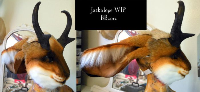 Jackalope WIP by Magpieb0nes