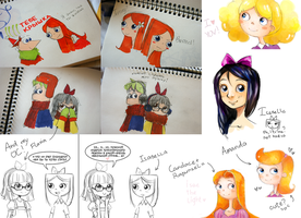 phineas and ferb sketches by InvincibleChimiPie