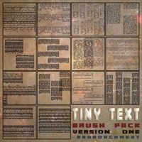 Tiny Text Brush Pack [Ver 1] [2015] by radroachmeat