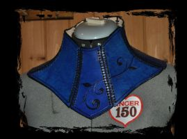 leather neck gorget by Lagueuse