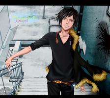 Izaya Orihara colored by Egenysh
