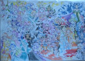 Sailor Moon Group by Marellus