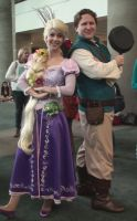 Rapunzel and Flynn Rider from Tangled movie by trivto