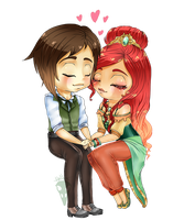 Contest Prize: Chibi Couple by HeellAwait