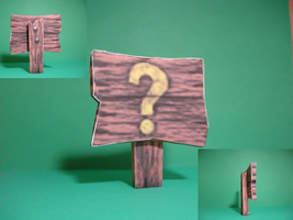Banjo Tooie Sign Papercraft by ROBOT75