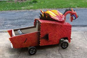 Dragon Coupe Soap Box Derby Car by thepapierboy