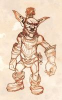 Goblin sketch by Zaelari