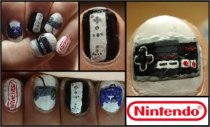 nintendo controller nails by Ninails