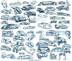 Random car sketches 3 by Rykunov