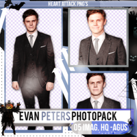 +Evan Peters photopack png by ForeverTribute