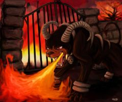 Houndoom- The Infernal Heat by taravalentine