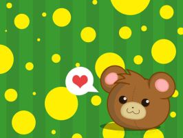 Cute Teddy Wallpaper 1 by Yei-Pi