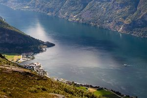 Village by the fjord by Margit86