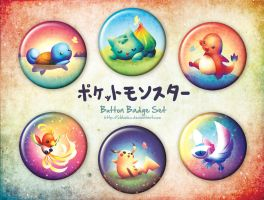 Pokemon Button Badges by goldfishkang