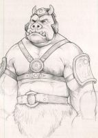 Gamorrean Guard sketch by NMRosario