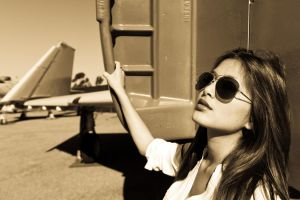 Amy at Miramar Air Museum 8 by trevor-w