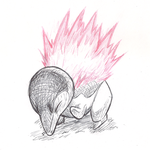 Some fire echidna thing by PkBlitz